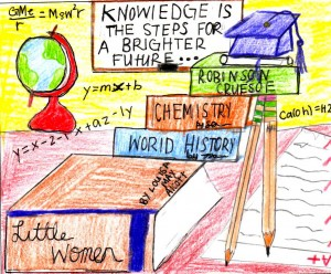 Knowledge is the steps for a brighter future